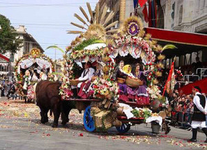 Fest Sant`'Efisio Sardinien